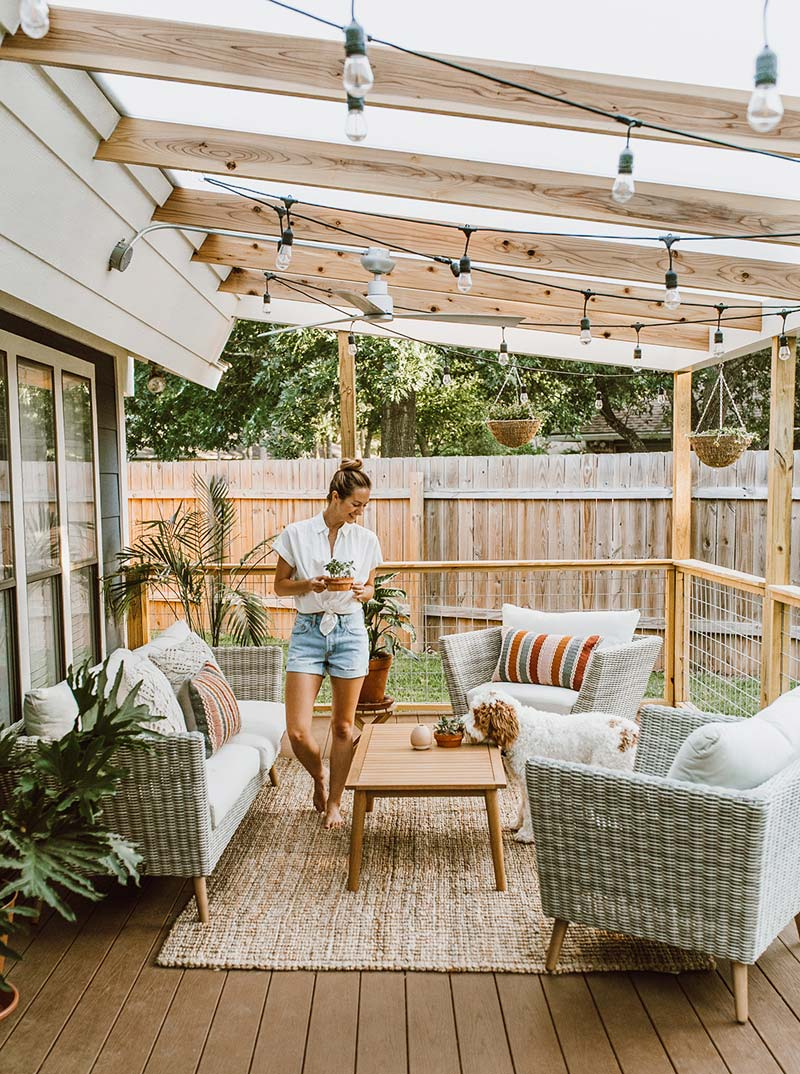 Livvy decided to have her patio roof made of her dreams! Garden inspiration