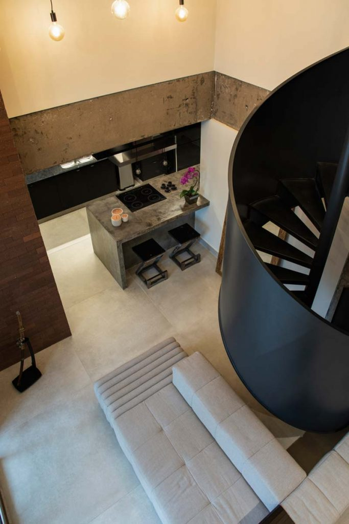 Modern industrial new-build apartment Inside viewers